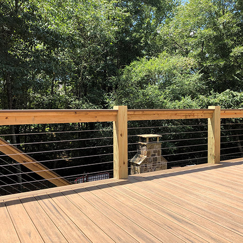 Natural Trex Deck with Cable Rail 1-thumb